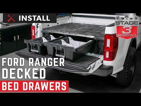 2019 Ford Ranger DECKED Truck Bed Storage install