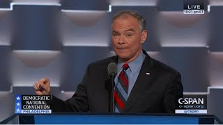 Tim Kaine FULL REMARKS at Democratic National Convention (C-SPAN)
