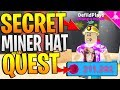 SECRET MYTHICAL MINING HELMET QUEST IN ROBLOX MINING SIMULATOR!