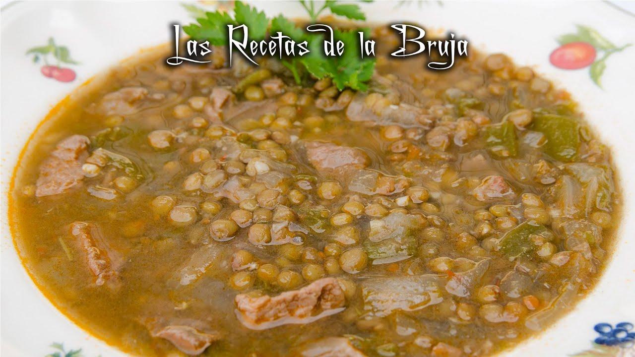 Lentejas ligeras receta tradicional sin fritos youtube for Comidas rapidas y sanas