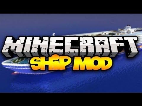 Minecraft: SHIP MOD! (Control HUGE Ships!) | Mod Showcase