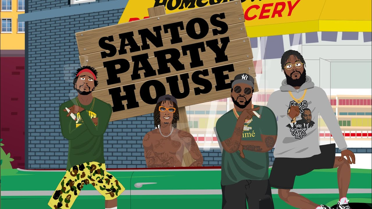 Smoke DZA - Santos Party House ft. Wiz Khalifa, Big K.R.I.T., Curren$y, Girl Talk (Official Video)