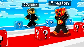 ULTIMATE 1v1 Lucky Block Race vs SSundee!