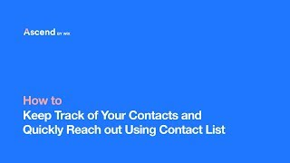 Contact List | Ascend Business Tools | Your Complete Marketing & Customer Management Suite