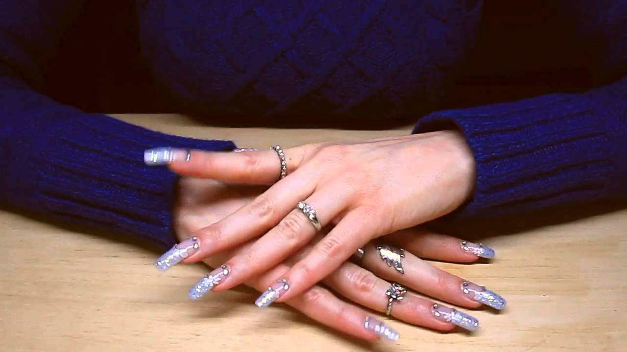 Naila Nails tapping with her perfect long nails (video 1) - YouTube