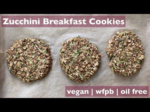 Zucchini Breakfast Cookies | VEGAN | WFPB