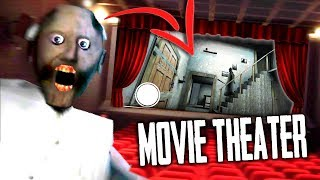 Playing GRANNY Horror Game INSIDE a MOVIE THEATER... (Granny Horror Modded Roleplay)
