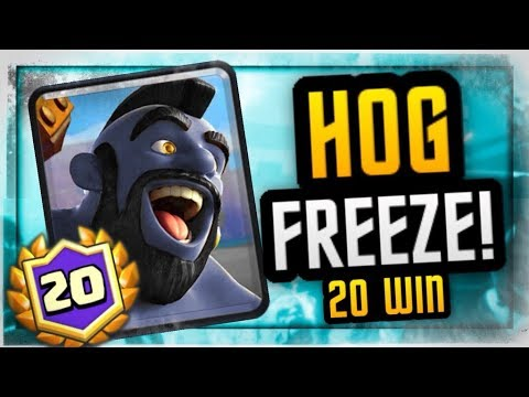 UNREAL! 20 WIN HOG FREEZE DECK | FLAWLESS GAMEPLAY