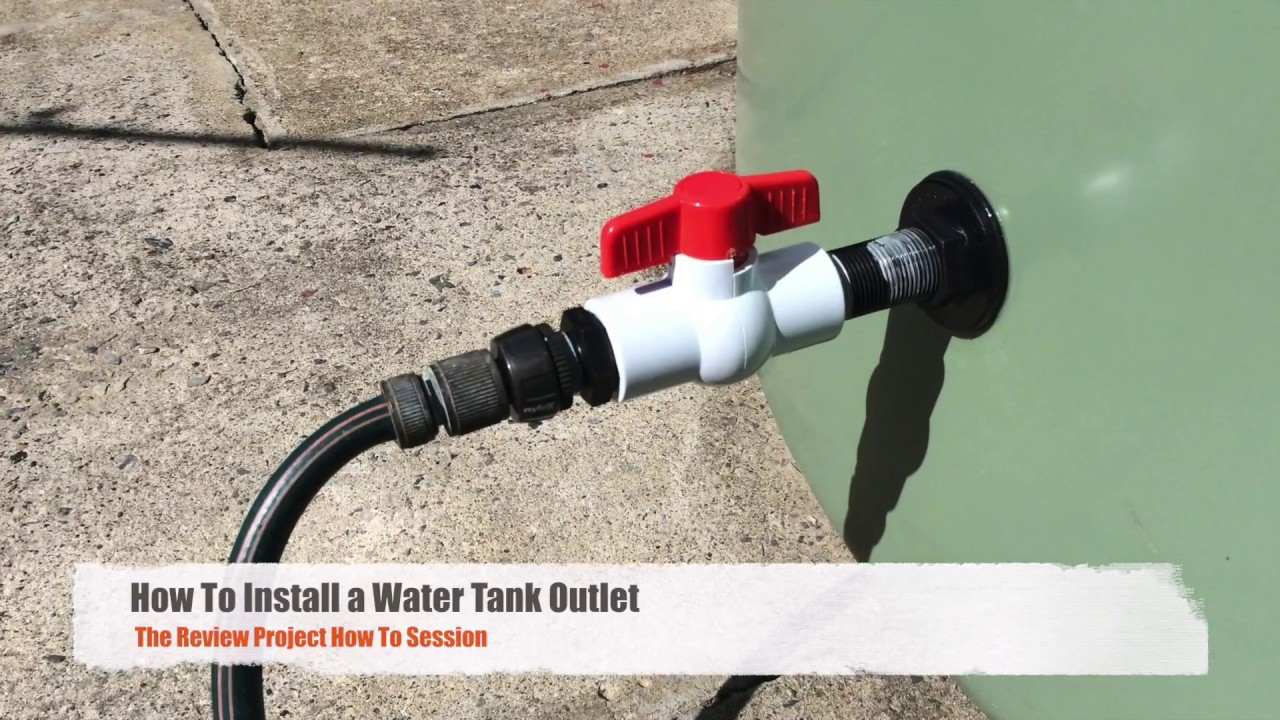 How to Install a Water Tank Outlet / Bulkhead Tap Fitting