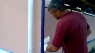 Нанесение декоративной штукатурки. Утепление фасада. Армирование стен. Москва. Строительство.(, 2014-08-29T16:55:28.000Z)