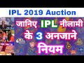 IPL 2019 - List Of 3 big Rules Of IPL Auction | MY Cricket Production