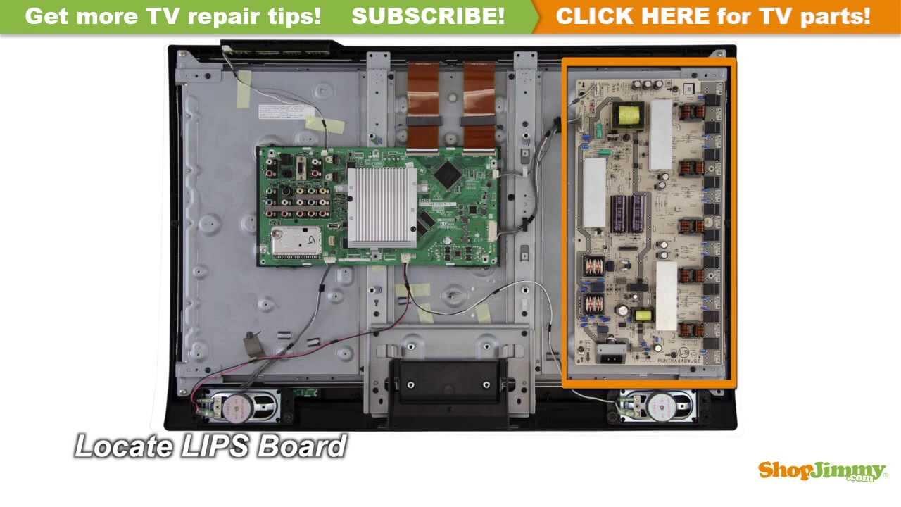 Sharp TV Repair  How to Replace RUNTKA448WJQZ Power