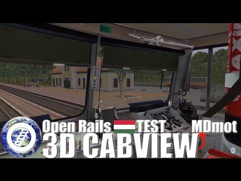 Open Rails 3D Cab test - Hungarian DMU MÁV MDmot - Ржачные видео приколы