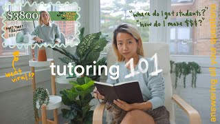 how i make $3-4K/mo tutoring📚: answęring ur questions + watch me teach!!