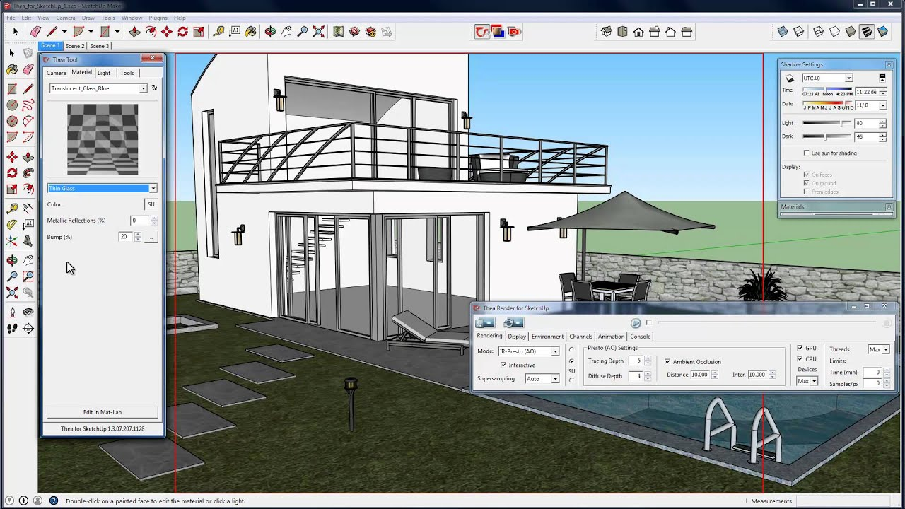 Thea For SketchUp Getting Started Tutorial - YouTube