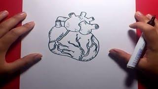 Como dibujar un corazon paso a paso 4 | How to draw a heart 4
