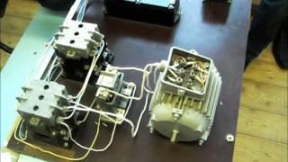 Схема реверса асинхронного двигателя с короткозамкнутым ротором(Данное видео является дополненем к статье http://zametkielectrika.ru/sxema-reversa-asinxronnogo-dvigatelya/ про схему реверса асинхронно..., 2013-05-03T05:15:19.000Z)