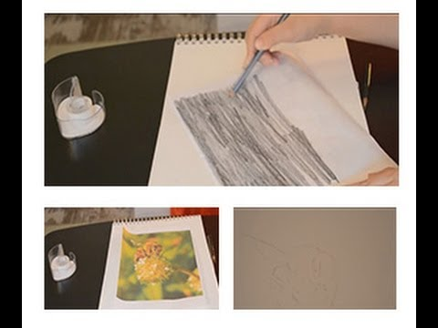 Drawing Lesson How To Easily Trace Without Tracing Paper Youtube