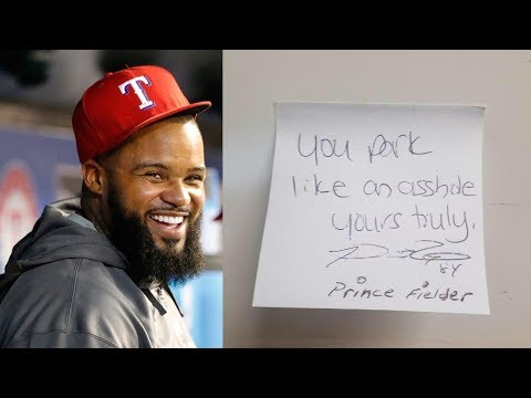 "Prince Fielder Calls Guy an ""A**hole"" for Bad Parking Job"