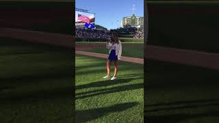 Dina Bach- National Anthem for the Cubs @ Wrigley Field