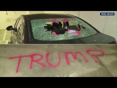 Bootleg Kev - North Hollywood Cars Vandalized with Anti-Trump Graffiti