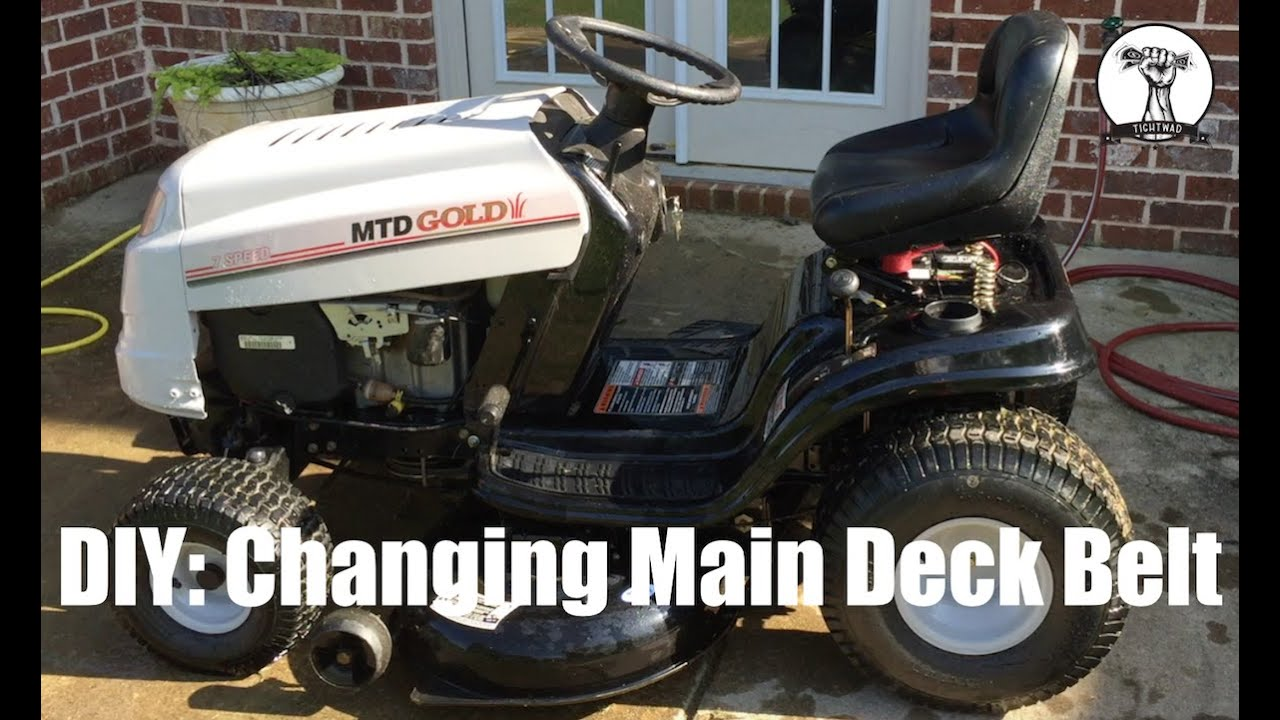 DIY: How to Change the Main Deck Belt on MTD Gold Lawn Mower ...