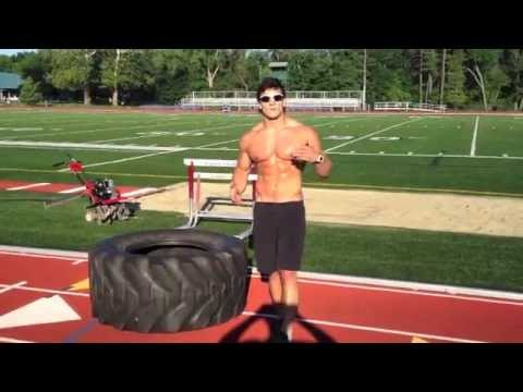 Outdoor Tire Workout (to build athletic, lean muscle and six pack abs)