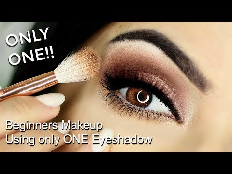 Eye Makeup Tutorial using ONLY ONE Eyeshadow | TheMakeupChair thumbnail
