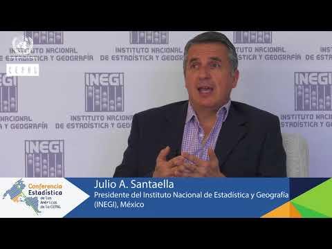 Julio A Santaella, Presidente del INEGI de México