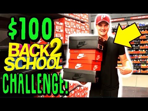 099fbdc45880c  100 BACK TO SCHOOL SNEAKER SHOPPING CHALLENGE!!+ yeezy giveaway At the  Nike outlet!