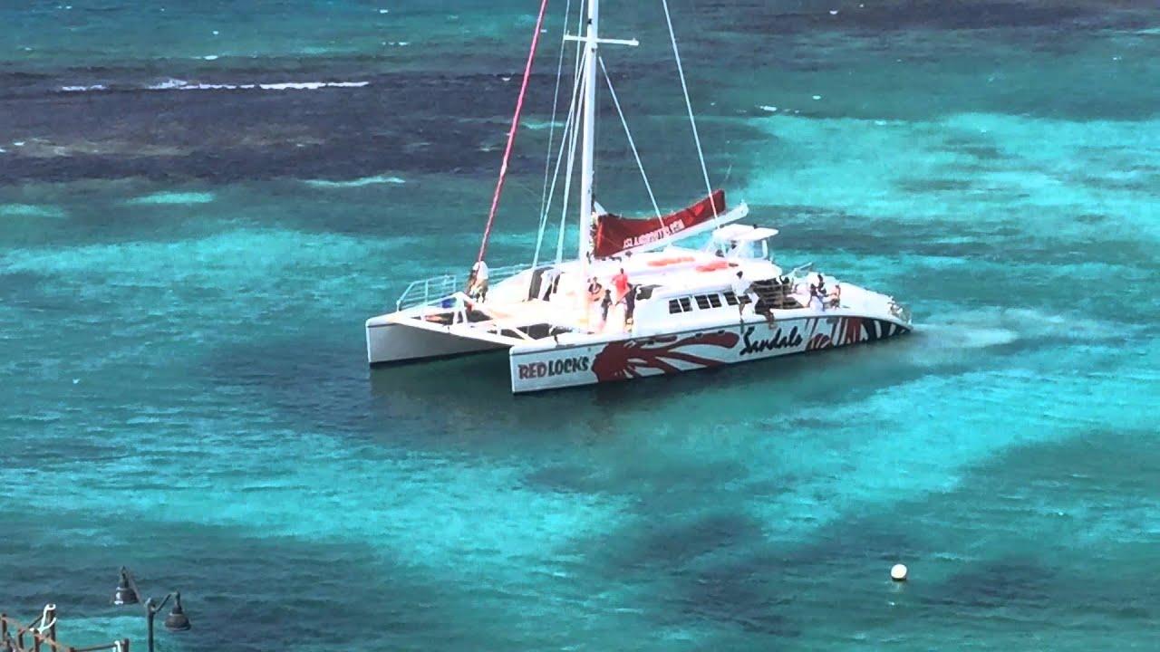 CHUKKA Catamaran Cruise to Dunns River Falls - YouTube