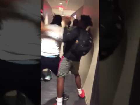 College Fight Inside Dorms‼️He Got Dropped Twice❗️😬