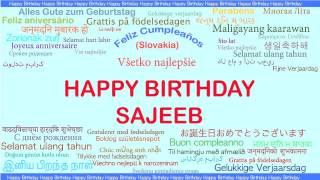 Sajeeb   Languages Idiomas - Happy Birthday