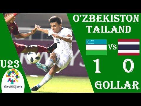 TARIXDAN. O'ZBEKISTON - TAILAND 1:0 O'YIN SHARHI 19.08.2018 OSIYO O'YINLAR 2018