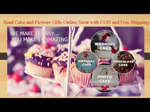 Send Cake And Flowers Gifts Online Surat With COD Same Day Delivery