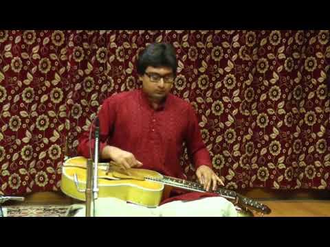 Soumalya mukherjee indian slide guitar..raga basant mukhari..tabla pt parimal chakrabarty