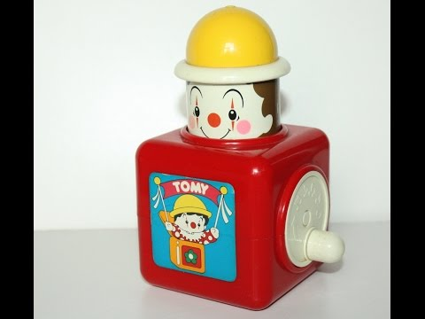 Vintage Tomy Clown Musical Jack in the Box [HD]