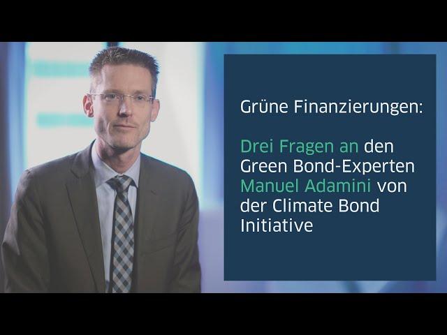 Green-Finance-Experte Manuel Adamini über Grüne Finanzierungen (UT)