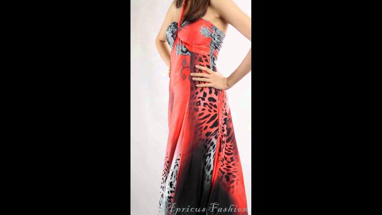 New Elegant Leopard Print Padded Long Maxi Prom Dress Women Evening