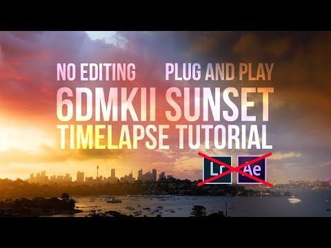EASIEST sunset timelapse tutorial 6DMkII - Holy grail timelapse
