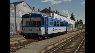 Microsoft Train Simulator - trať ČR 310   Os 3514 Bruntál - Rýmařov