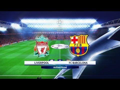 LIVERPOOL VS BARCELONA FC  - Mohamed Salah Poker - UEFA Champions League UCL 2018 - Full Match Pes