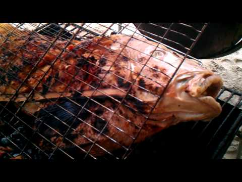 Creol cooking Seychellen - barbecue on the beach VIDEO0230