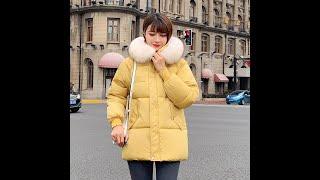 Новые повседневные теплые модные женские короткие зимние пальто и куртки с карманами парка