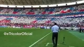 Rogerio Ceni apreciando o mosaico do Fortaleza no jogo Fortaleza x Sampaio Corrêa - Série B 2018