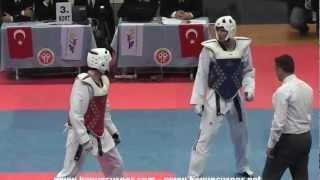 87kg Final Ali Sari vs Burak Ozan Karaca (2013 Turkish Senyor TKD Championships)