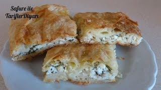 Pratik Tepsi Böreği Tarifi - Hazır Yufkadan Peynirli Börek