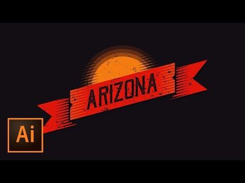 Make a Beautiful Grunge Retro Ribbon | Illustrator Tutorial