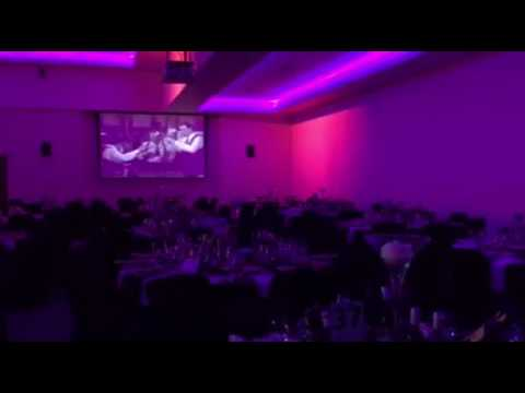 Video DJ set-up 3 Projector Screens Christmas Party 2016