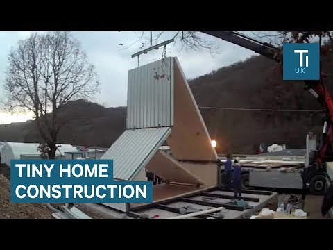 These flatpack homes can be assembled in just 6 hours